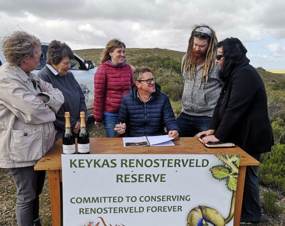 "Another easement signed: ""For Renosterveld, and for my father"""