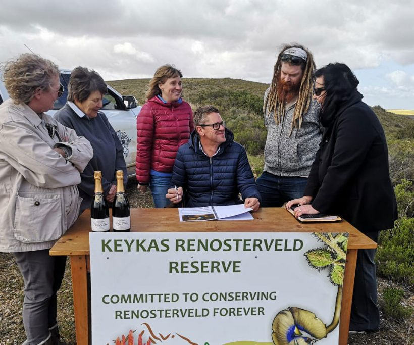 """Another easement signed: """"For Renosterveld, and for my father"""""""